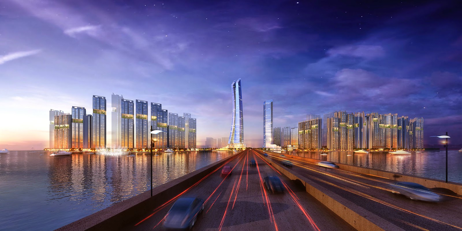 Artist impression of the Super Tower in Bangkok