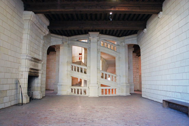 chateau chambord, france, staircase