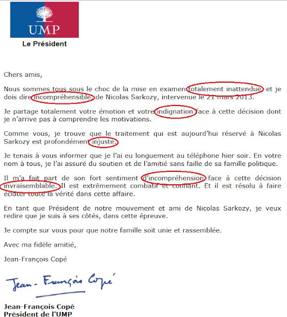 Lettre de Jean-François Copé aux militants