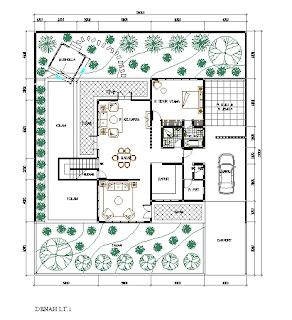 Denah Rumah Modern 20 x 23 M2
