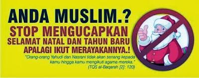 Anda Muslim? Stop Natal Bersama