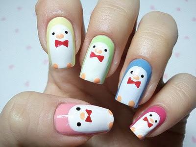 love orla kiely penguin nail