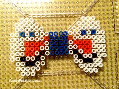 snowman face perler bead pattern
