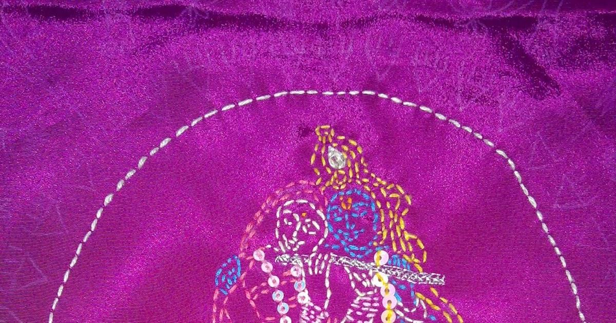 Craft art radha krishna kantha work hand