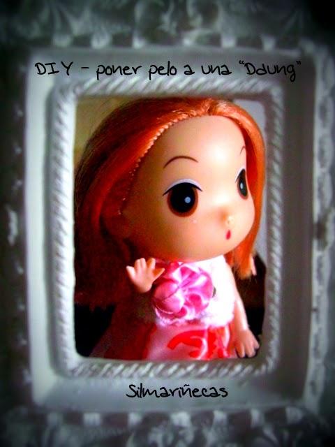 cómo poner pelo a una muñeca