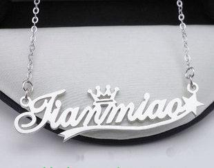 Dây chuyền mặt chữ bằng bạc