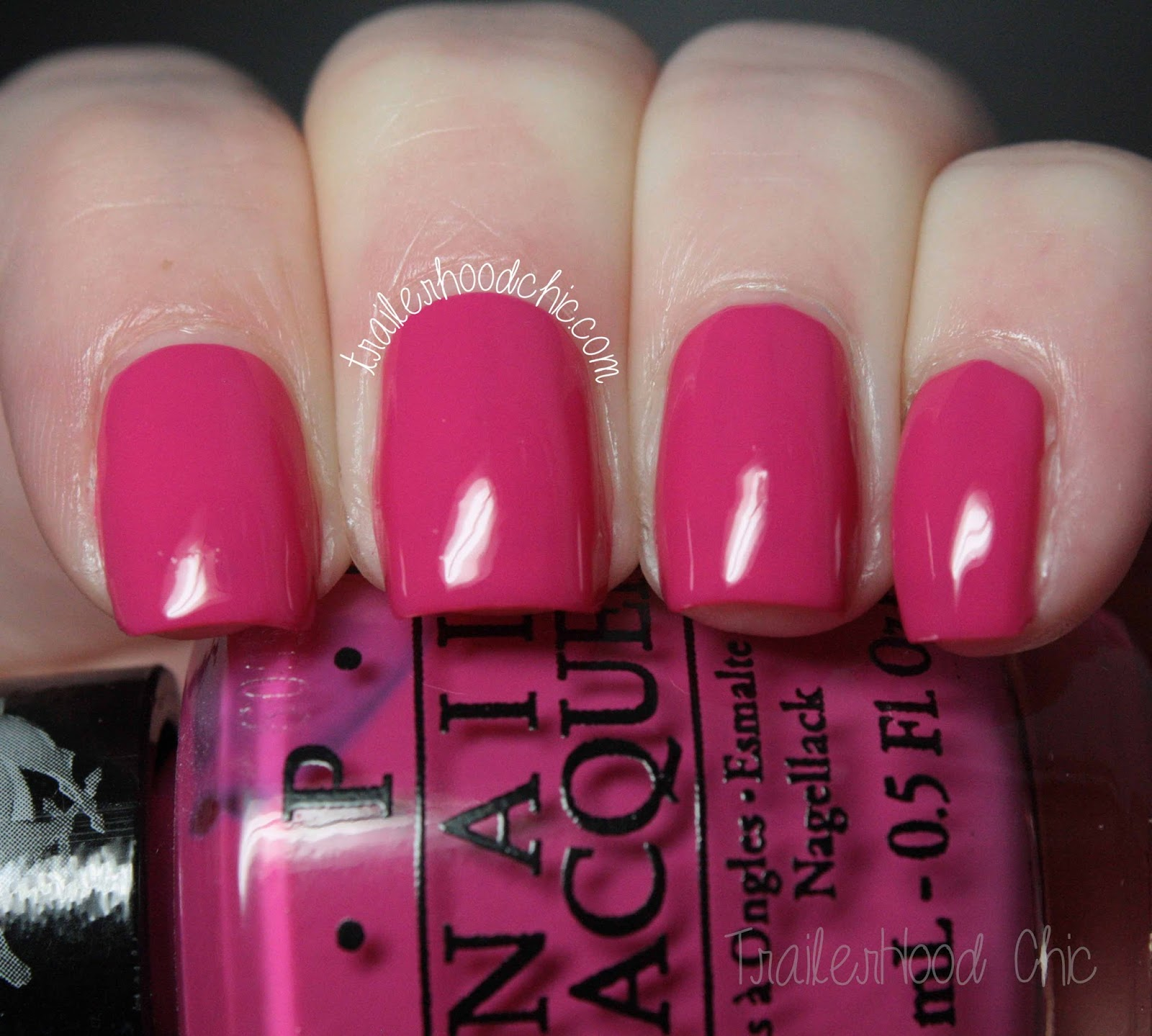 opi ford mustang girls love ponies swatch