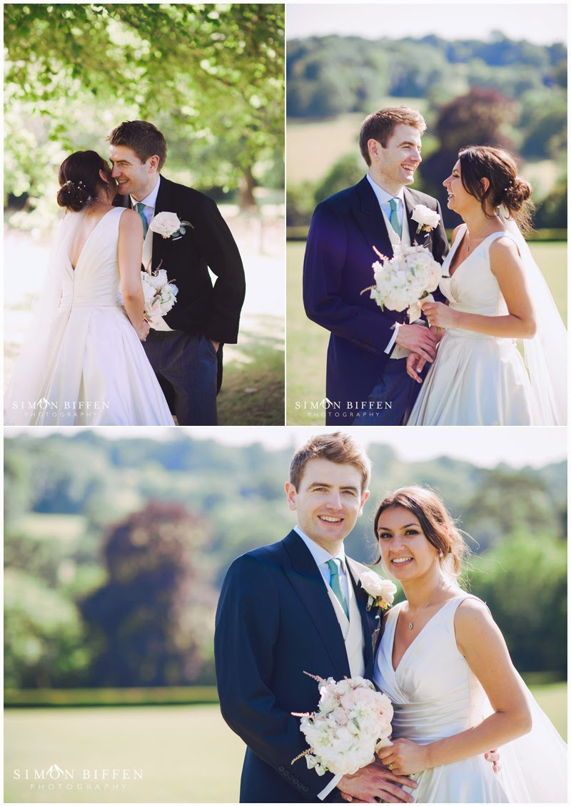 Bride and Groom portraits at Polesdon Lacey