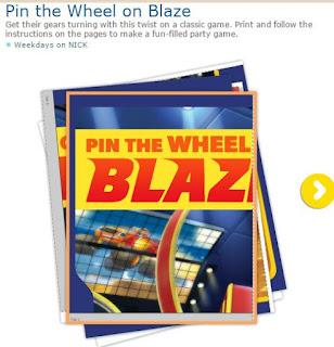 Free Printable Pin the Wheel on Blaze.