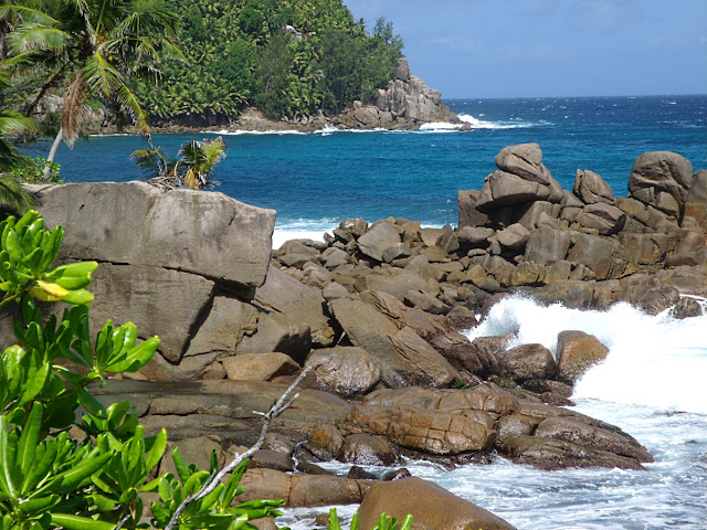 rocks at Police Bay, Mahe, Seychelles