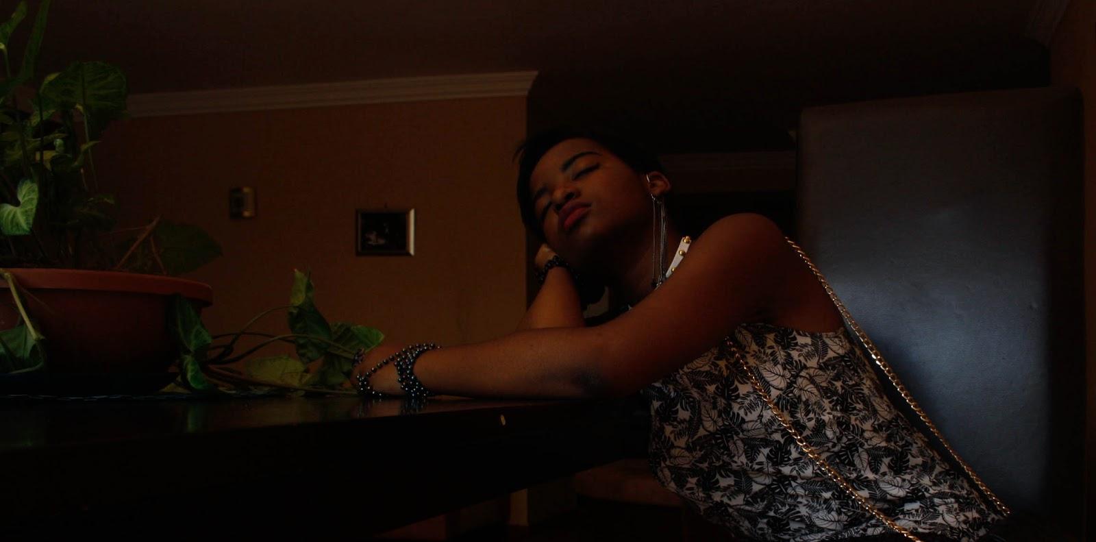 romantic photography sleeping black girl