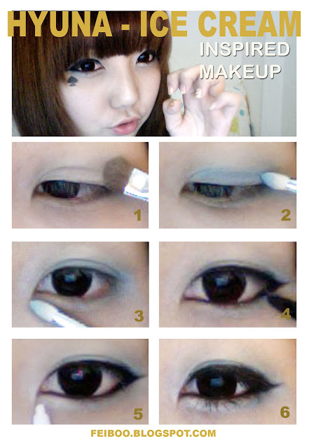 Up ala make HyunA natural artis cara korea up cara 4Minute yang  tutorial Natural Make
