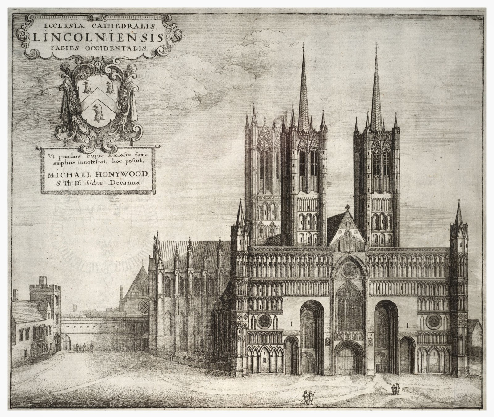 Wenceslas Hollar 1600 1677 Lincoln Cathedral From The