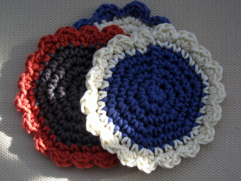 Crochet Patterns Modern : Modern Grace Design: Crochet Flower Coaster :: Pattern