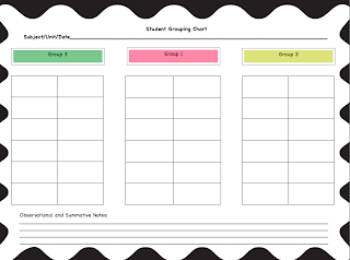 Classroom management, student grouping