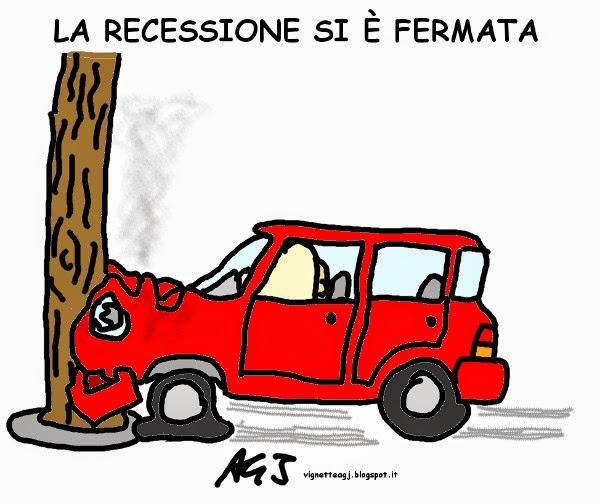 recessione, economia, crescita zero