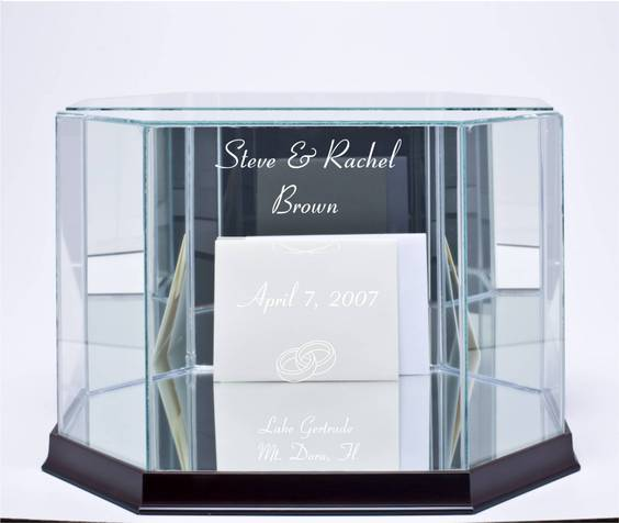 Our Glass Wedding Card Boxes are beautiful They are available in Octagon