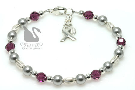 Cystic Fibrosis Diabetes Awareness Bracelet (B028-D2)