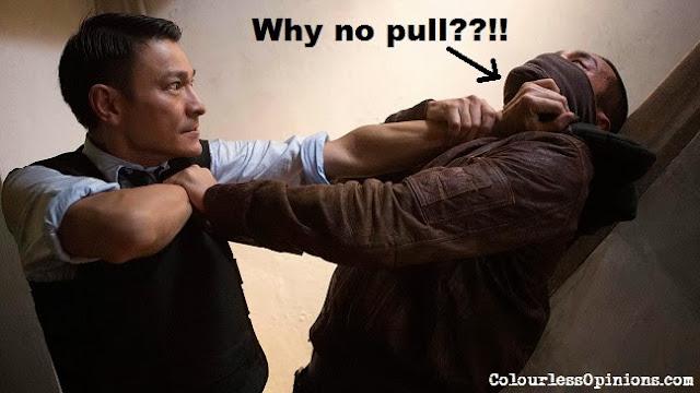 Firestorm 2013 movie still - Andy Lau fighting Gordon Lam Ka Tung meme