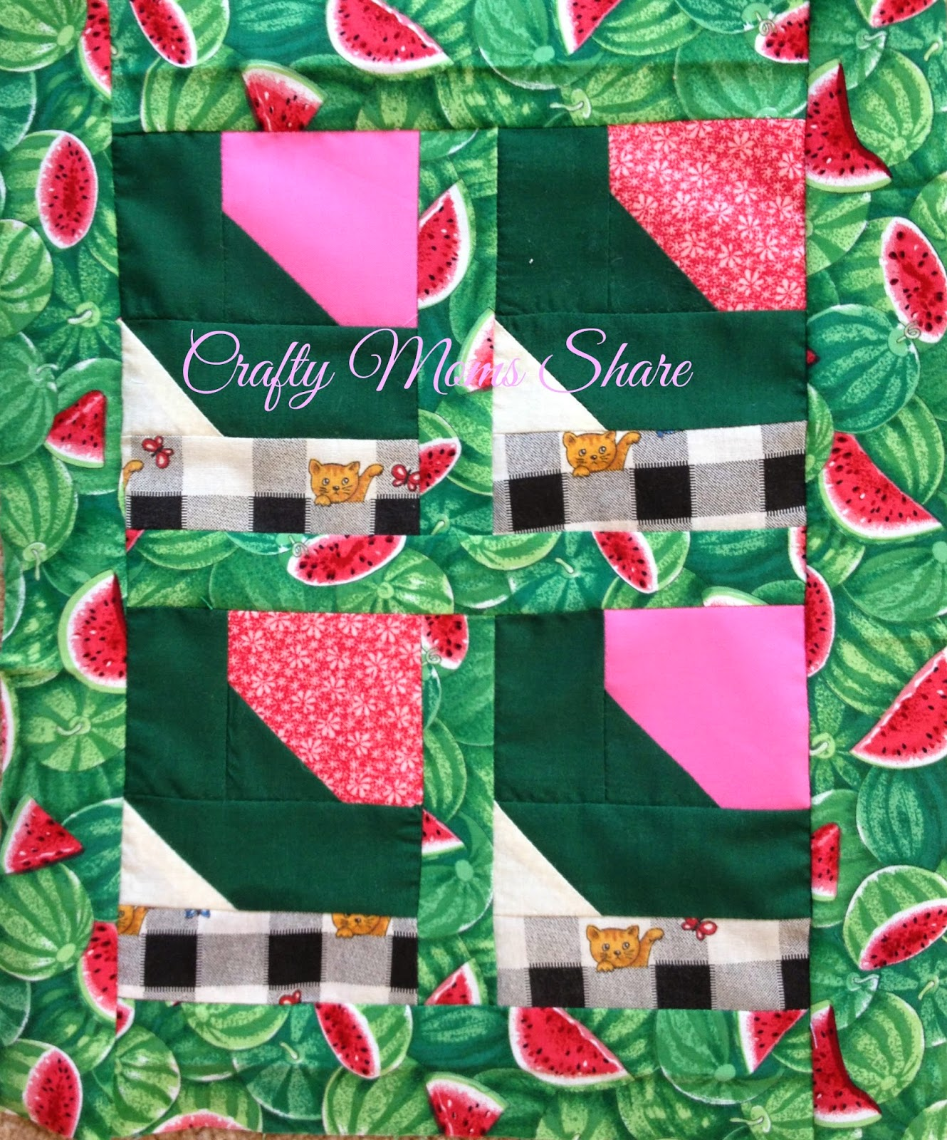 Crafty Moms Share: Fruit Exploration: Watermelon with a Quilt : watermelon quilt - Adamdwight.com