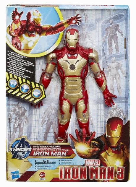 TOYS : JUGUETES - MARVEL - Figura Iron Man 3 Plan de Vuelo  Producto Oficial   Hasbro A6566   A partir de 4 años