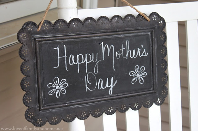 Hanging Chalkboard with Scalloped Edges via Kirkland's