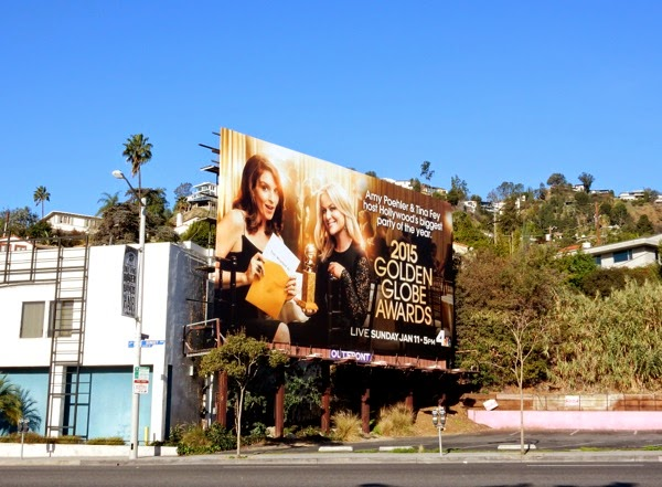 2015 Golden Globes billboard