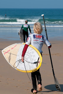 Stand up paddle boarding Watergate Bay Cornwall