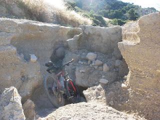 grieta camino Barranco de las Lenas María de Huerva