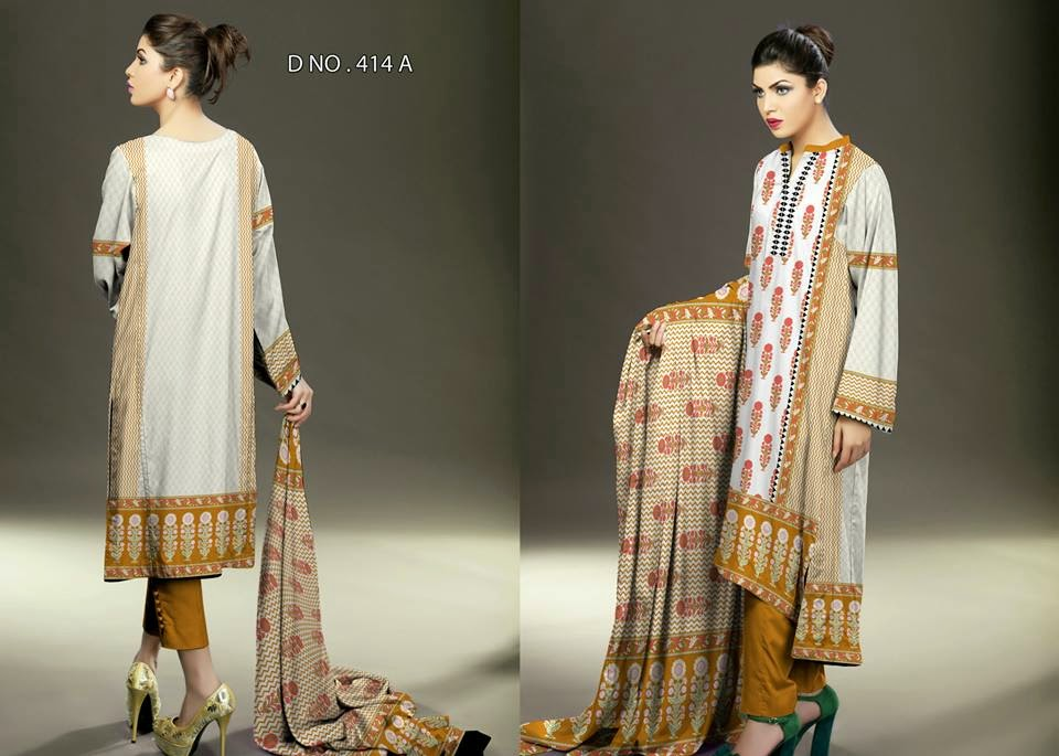 Summer Lawn Collection 2015 by Ajwa Textile