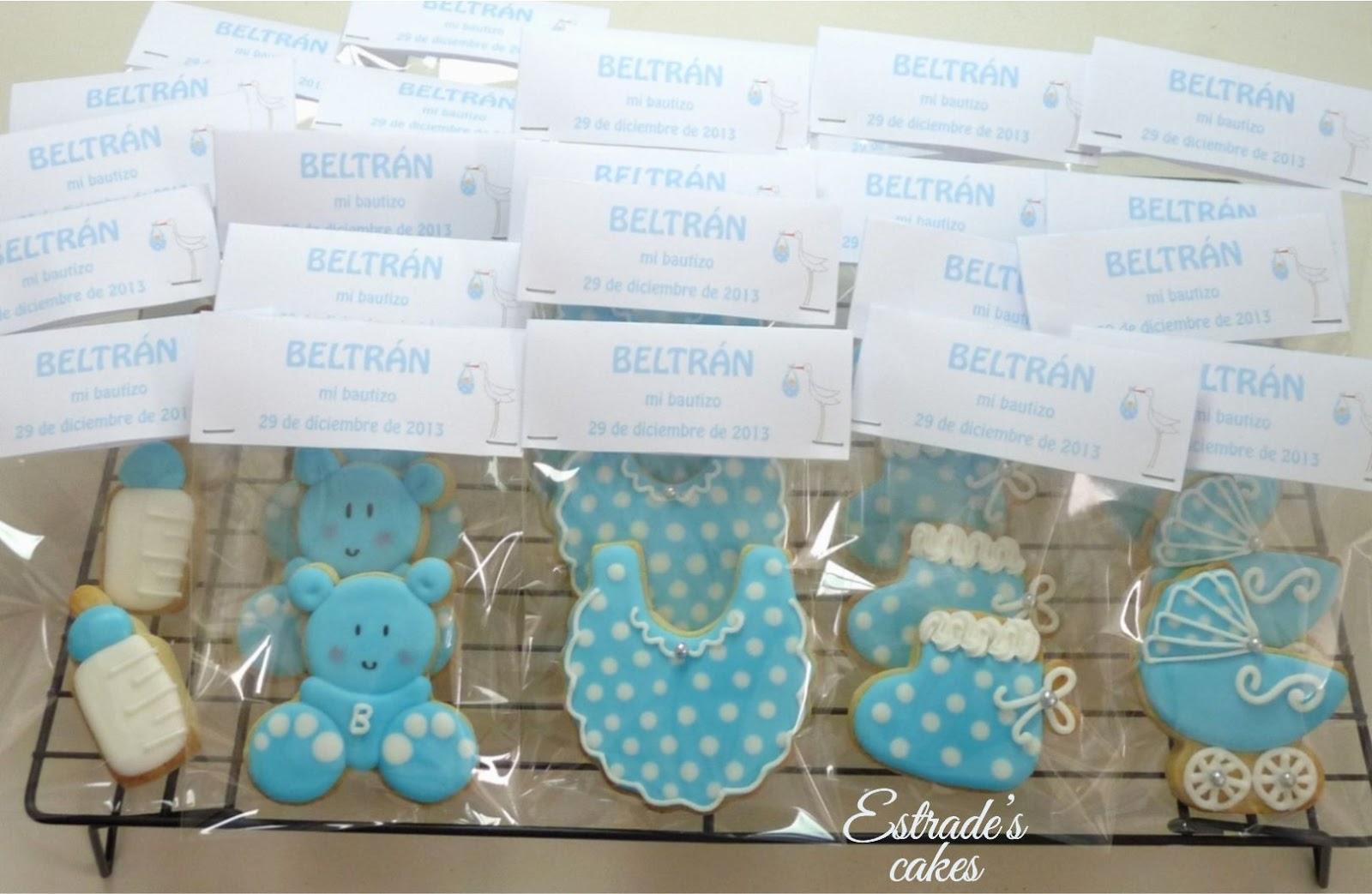 galletas para bautizo decoradas con glasa - embolsadas