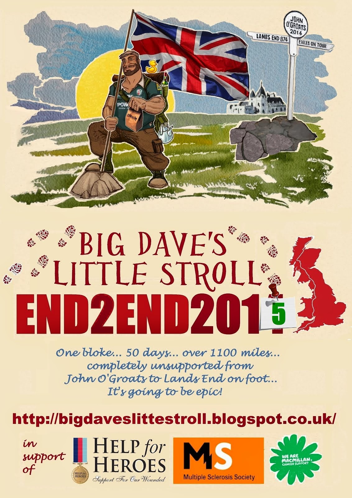 Big Dave's Little Stroll - End 2 End 2015