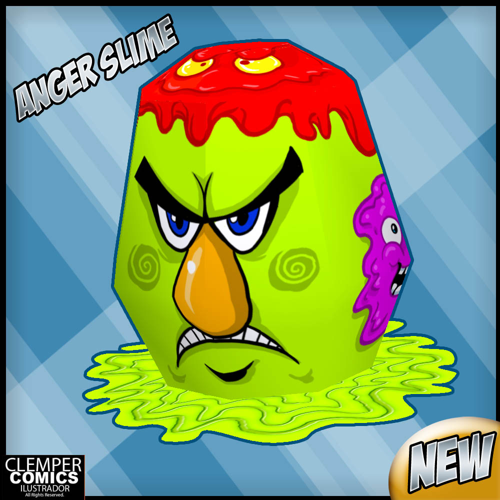 Angry Slime Paper Toy