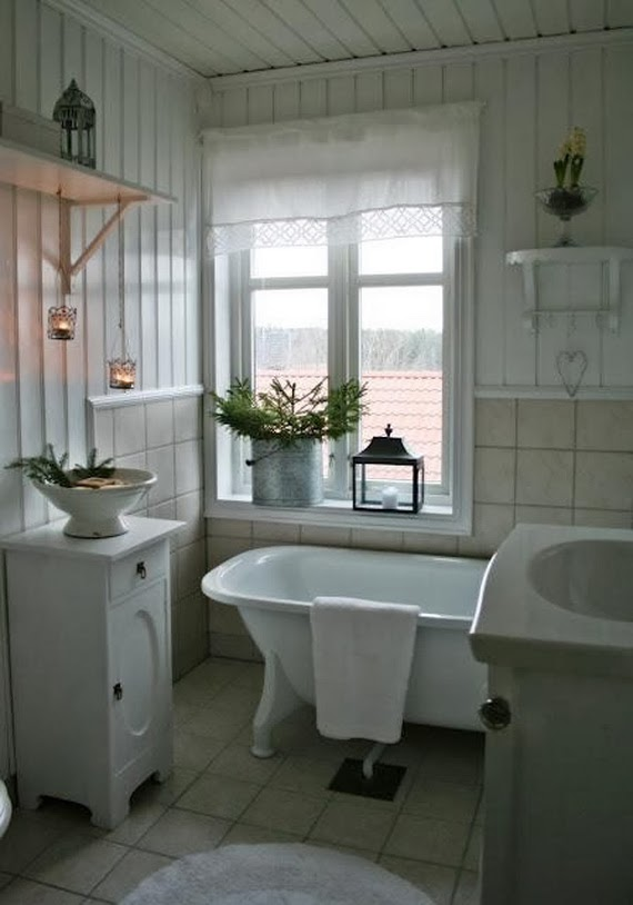 Shabby in love bathroom decorating ideas for christmas for Cute bathroom ideas
