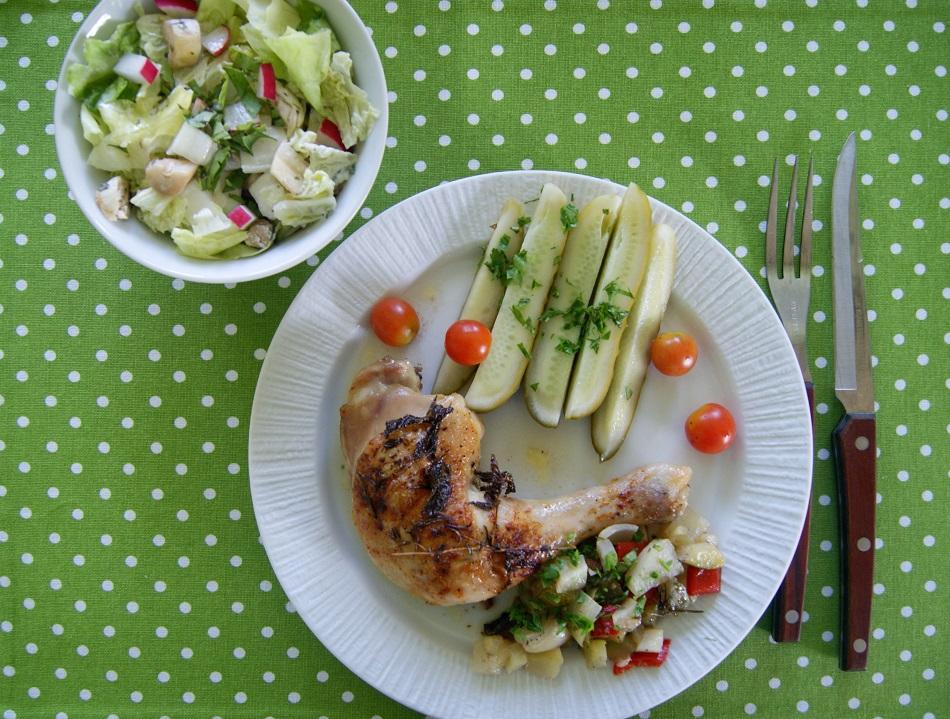 kurczak pieczony z ziolami