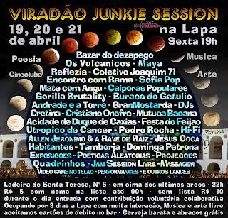 Cartaz Viradão Junkie Session