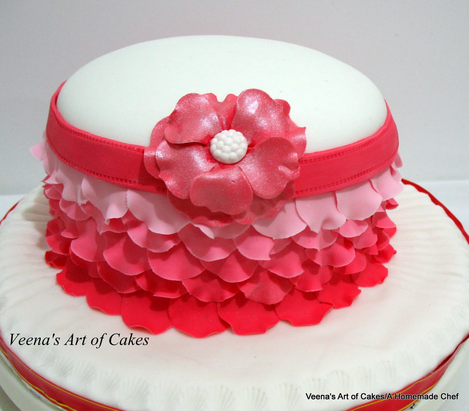 Rose Petal Cake Images : Ombre Rose Petal Cake Video Tutorial