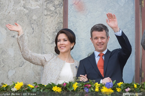 Crown Princess Mary,and Crown Prince Frederik of Denmark, attend a Lunch reception to mark the forthcoming 75th Birthday of Queen Margrethe II of Denmark. at Aarhus City Hall.