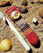 Funda porta ganchillos a crochet