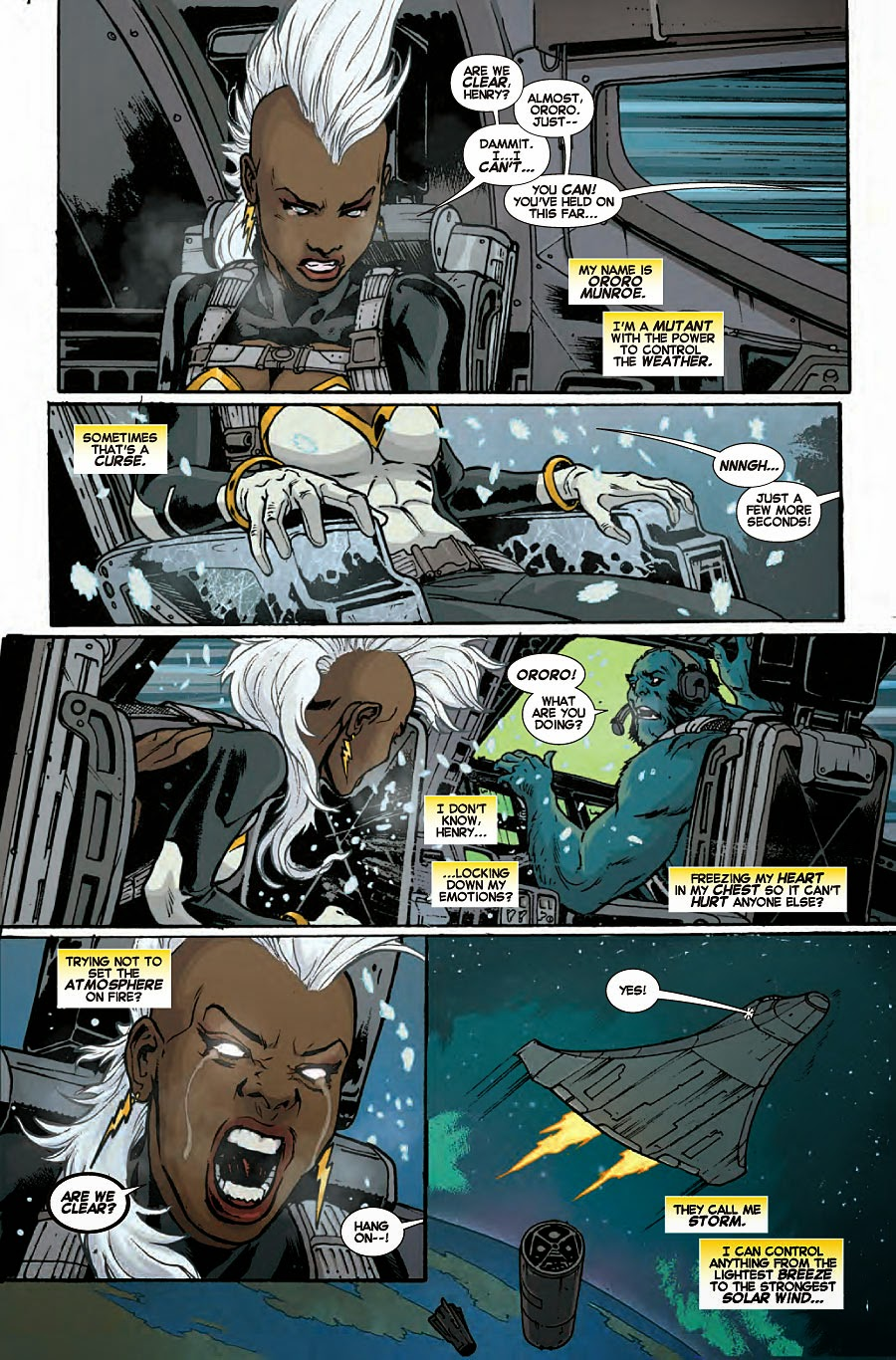 Storm reacts act to the death of wolverine