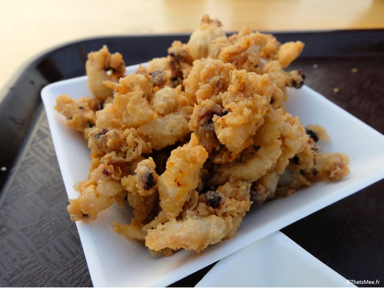 Faust calamars frits chipirones finger food tapas restaurant terrasse sur seine, Faust Les Berges Port Pont Alexandre III Paris (c) Thatsmee.fr
