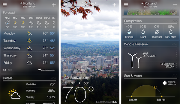 Yahoo Weather iphone app download