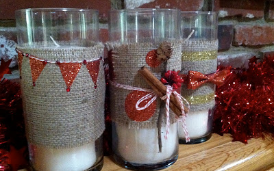 holiday crafts candles