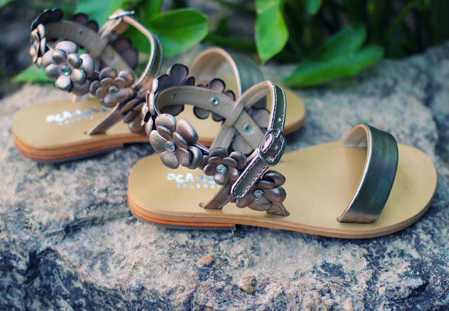 Oca-Loca Dressy Gold Sandals for Girls | Chichi Mary