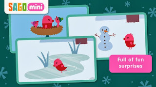Screenshot Sago Sago Mini Forest Flyer Winter app on OneQuarterMama.ca