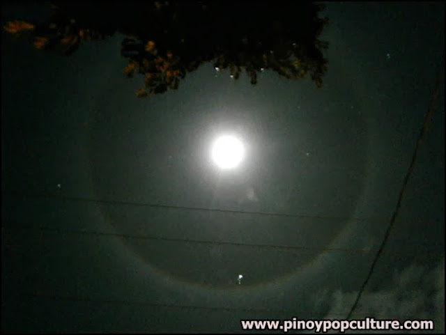 moon halo, moon ring, astronomical phenomenon