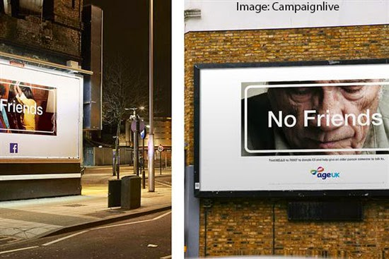 Age UK Advertising Campaign Facebook Friends