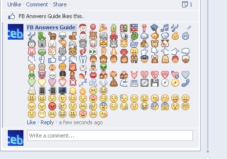 Facebook Answers Guide New Collection Of Emoticons And Symbols For