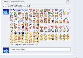 New Collection Of Emoticons And Symbols For Facebook Comments