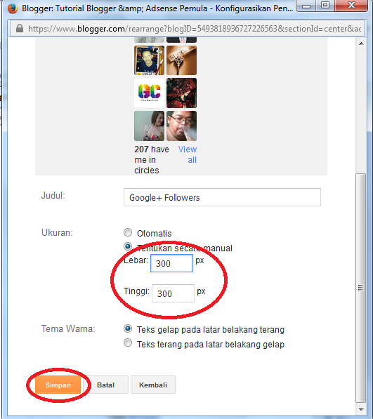 cara mudah membuat widget google+ followers di blog